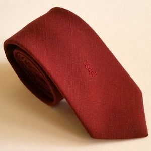 Yves Saint Laurent Wool Tie